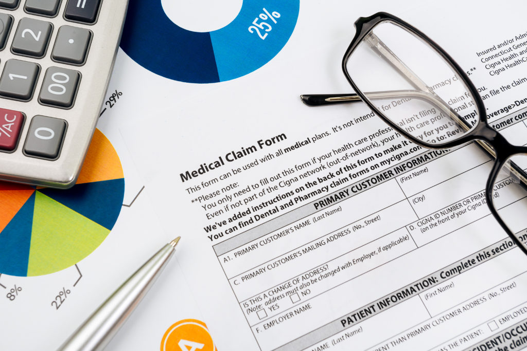 Behavioral health insurance claim form for the healthcare revenue cycle.